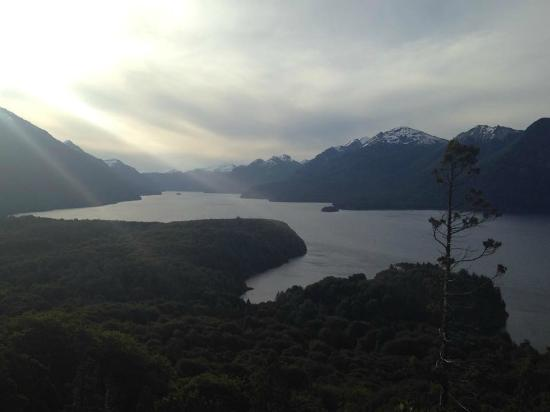 Millaqueo Luxury Villa: View from hiking trail nearby lodge