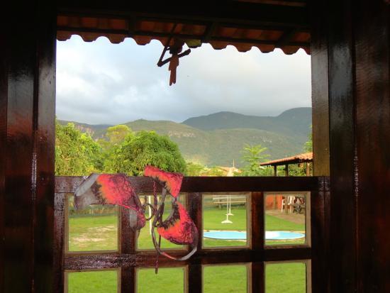 Serra Azul de Minas, MG: A serra vista pela janela do quarto