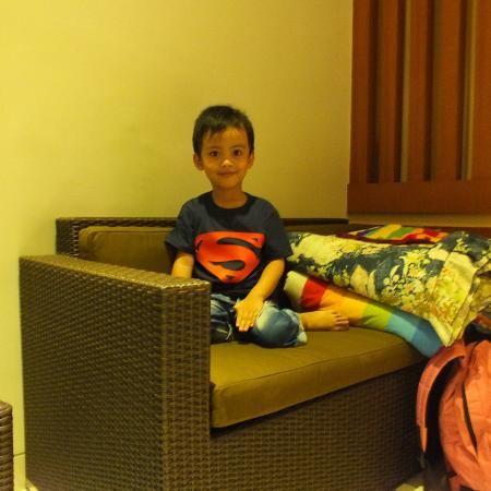 my boy @ two suite room of the banyumas villa