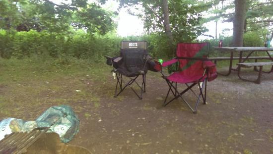 Presqu'ile Provincial Park: our campsite
