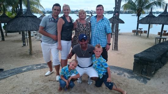 Veranda Grand Baie Hotel & Spa : Us with Jeff from the boat house
