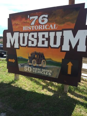 Days of '76 Museum: Sign