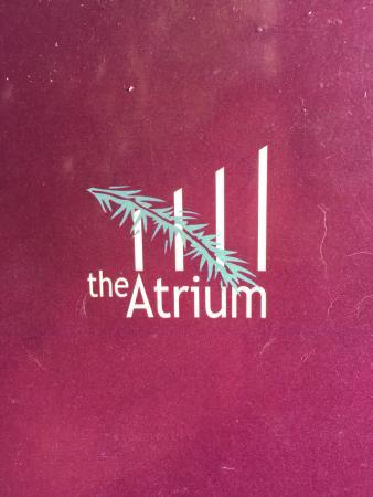 The Atrium: Menu