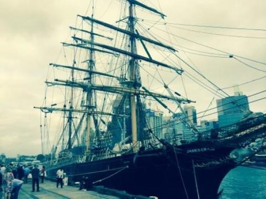 James Craig Tall Ship: At the wharf - James Craig