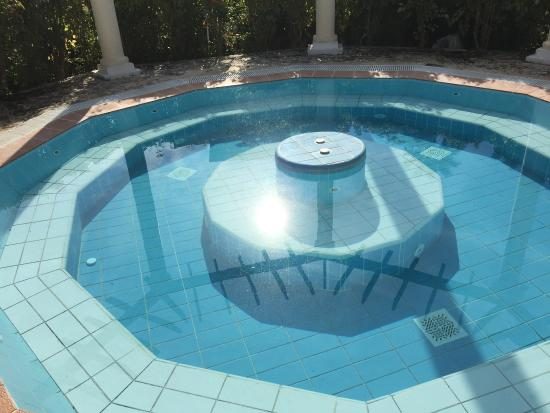 """Paradisus Princesa del Mar Resort & Spa: the non functioning """"hot-tub"""" which was just a mosquito breeding ground, look close to see the l"""