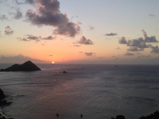 Cap Estate, เซนต์ลูเซีย: The view from the house during sunset