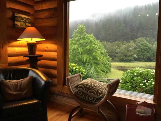 MOT Lodge: a lovely view from the living room