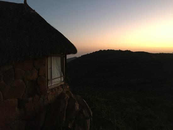 Sanctuary at Ol Lentille: Sunrise from our Bedroom (wild elephants could be heard but not seen yet)