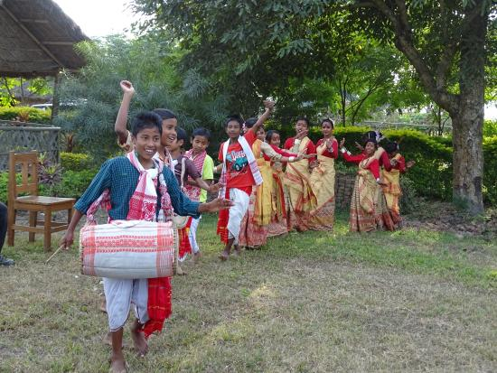 Dihing River Camp: Bihu dance