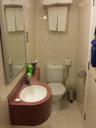 Nayland Hotel: Bagno (da dentro la doccia!)
