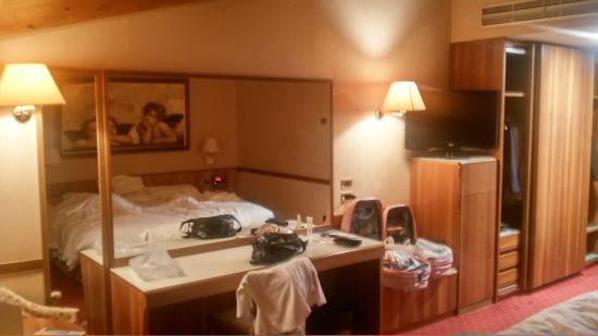 Hotel Salicone: La camera al mattino. un po' di confusione (nostra!)