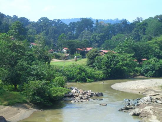 Danum Valley Field Center: View of the field centre from the bridge Sept 2007