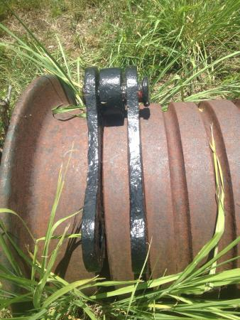 Hassel Island: Take-up chain reel at Creque Marine Railway
