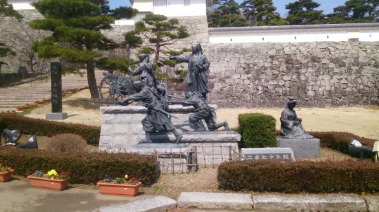 The ruins of Nihonmatsu Castle : 二本松少年隊