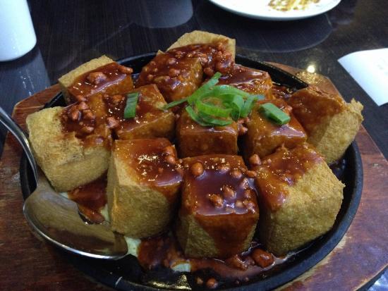 Madam Kwong's Restaurant: Hot plate tofu.