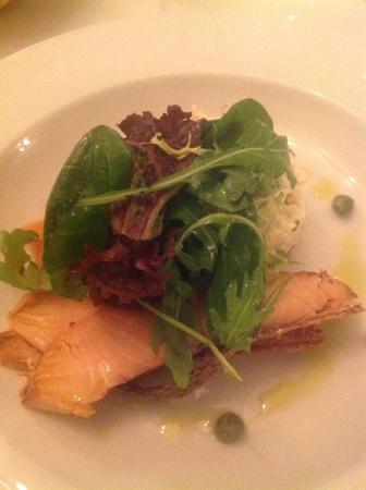 Kinkell House Hotel: Salmon starter was light and fresh