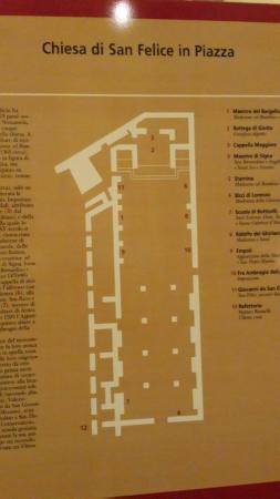 San Felice in Piazza : Pianta della Chiesa