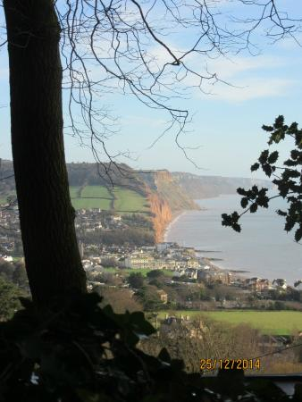 Hotel Elizabeth : Sidmouth Sea-front from Peak Hill Road