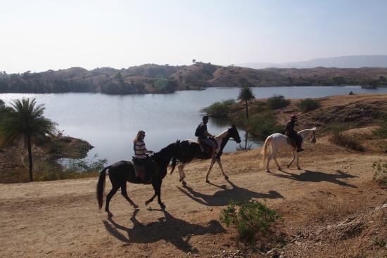 Riding around krishna Ranch