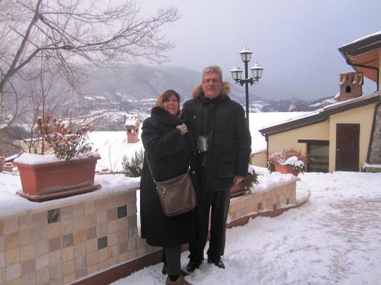 Albergo Il Tartufaro: io e mia moglie