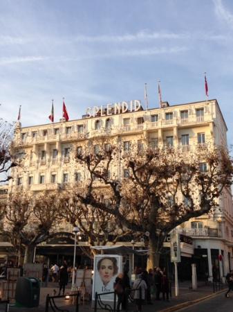 Hotel Splendid: hotel visto dalla Croisette