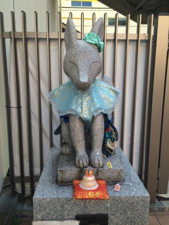 Anamori Inari Shrine: 衣装はボランティアさんがつくったそうです。
