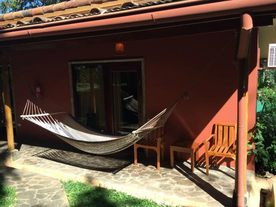Hotel Arco Iris: The front of my room with hammock