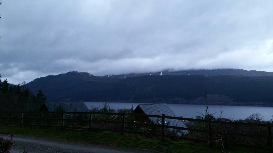 Lodges on Loch Ness: Veiw from the lodge on Hogmany 2013