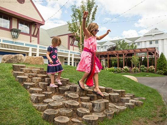 Settlers Green: New playscape features in the Courtyard