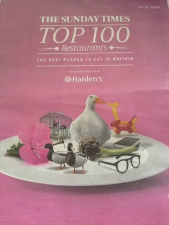 The Club Hotel & Spa: Bohemia@The Club Hotel listed in The Sunday Times Top 100 UK Restaurants,6th in UK to enjoy dess