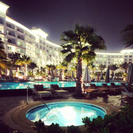 Hotel From Adults Only Pool At Night Picture Of Waldorf Astoria