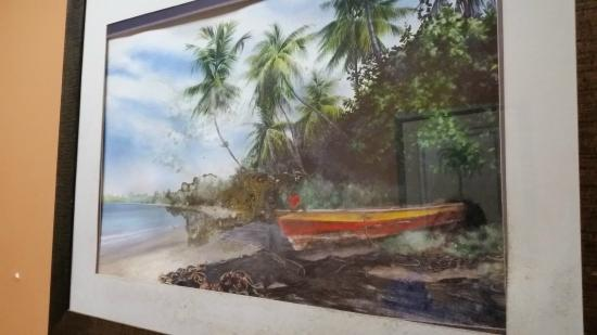 Grafton Beach Resort: Saw this painting by the gym