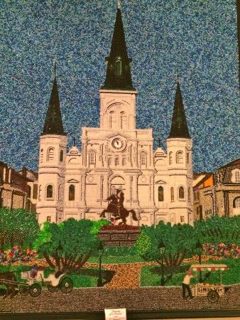 Little Vic's: Beautiful art work made entirely of Mardi Gras beads on display for sale