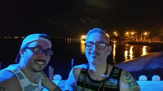 Bluezy's Happy Snapper: My husband and I enjoying some drinks with this awesome view