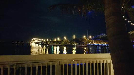Bluezy's Happy Snapper: The view from our table