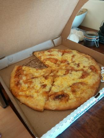 The Baker Bean: Large cheese pizza