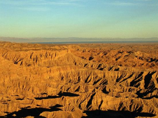 California Overland Desert Excursions: The View from Fonts Point Toward the Salton Sea