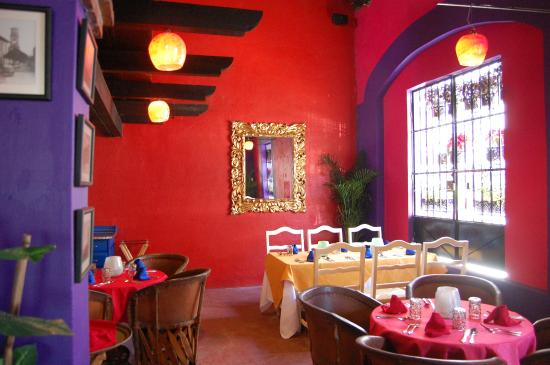 we had a lovely corner table picture of casa tradicional