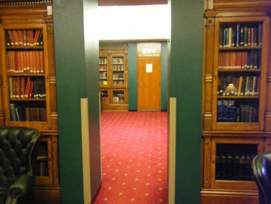 The Union Jack Club: library area