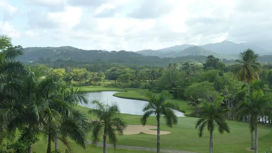 The Ocean Villas : Golf course from Iquana's restuarant