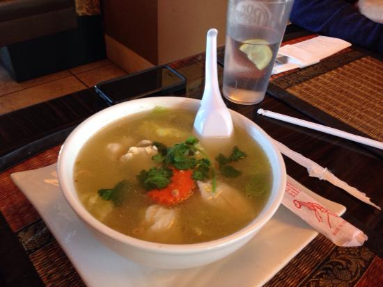 Wonton Soup Delicious Broth Picture Of Thai California Kitchen Anaheim Tripadvisor