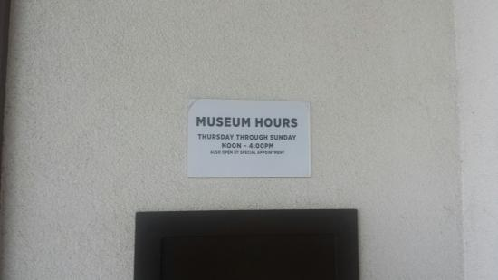 Japanese American Resource Center/Museum: Museum hours