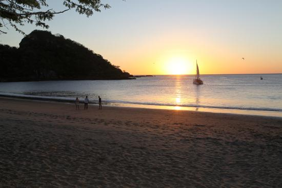 Giant's Foot Surf: Sunset and Sailboat - Playa Gigante Nicaragua