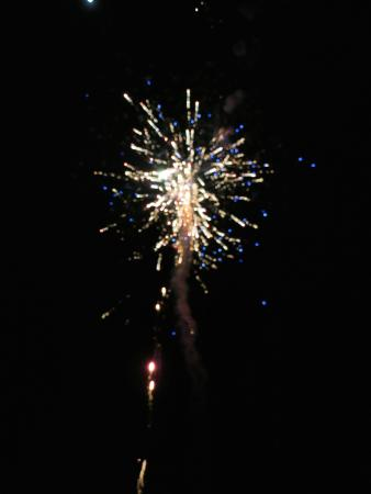 Pulau Joyo: Fireworks after dinner on the beach!