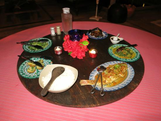 Pulau Joyo: Private dinner for two on the last night