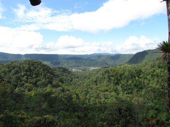 Hacienda San Vicente: view from trail 3