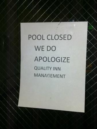 Quality Inn & Suites Birmingham Highway 280: pool and fitness center closed