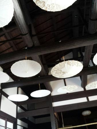 Hakone Gardens: Hand-crafted umbrellas as deco