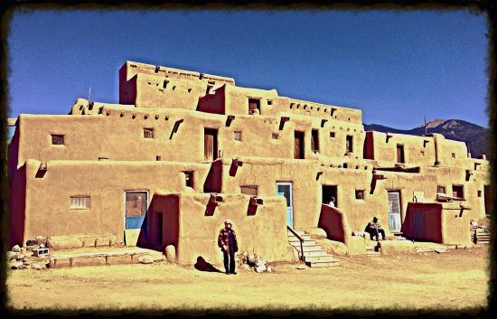 Taos Pueblo: View of main building