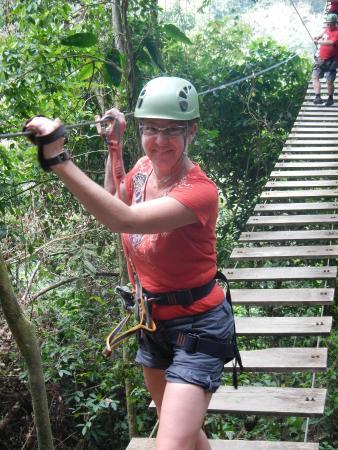 Osa Canopy Tour: one of 2 swing bridge options